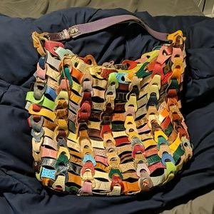 Unique Multicolored Leather Anthropologie Handbag